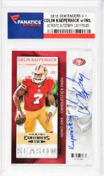 Colin Kaepernick San Francisco 49ers Autographed 2013 Contenders #1 Card with Kaepernicking Inscription - Mounted Memories  - Mounted Memories