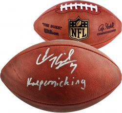 Colin Kaepernick San Francisco 49ers Autographed Pro Football with Kaepernicking Inscription