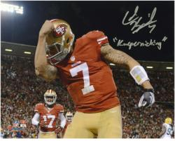 Colin Kaepernick San Francisco 49ers Autographed 8'' x 10'' Photograph with ''Kaepernicking'' Inscription - Mounted Memories