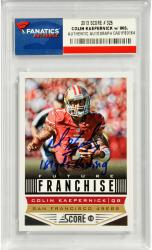 Colin Kaepernick San Francisco 49ers Autographed 2013 Topps #326 Card with 181 YDS Rushing Inscription - Mounted Memories