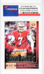 Colin Kaepernick San Francisco 49ers Autographed 2013 Panini R&S #22 Card with Kaepernicking Inscription - Mounted Memories  - Mounted Memories