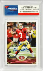 Colin Kaepernick San Francisco 49ers Autographed 2013 Topps #336 Card with Kaepernicking Inscription - Mounted Memories