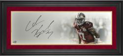 Colin Kaepernick San Francisco 49ers Framed Autographed 10'' x 30'' Field General Photograph - Mounted Memories