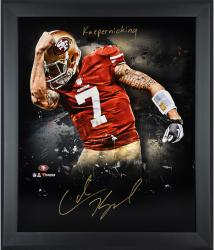 Colin Kaepernick San Francisco 49ers Framed Autographed 20'' x 24'' In Focus Photograph - Mounted Memories