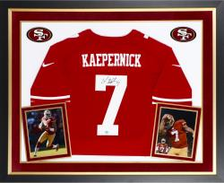 Colin Kaepernick San Francisco 49ers Autographed Deluxe Framed Nike Limited Red Jersey