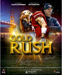 "Colin Kaepernick & Jim Harbaugh San Francisco 49ers Autographed 20"" x 24"" Movie Poster"