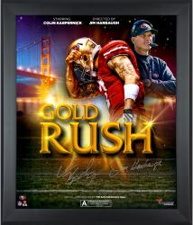 Colin Kaepernick Jim Harbaugh Framed Autographed 20'' x 24'' Movie Poster