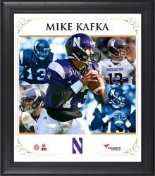 "Mike Kafka Northwestern Wildcats Framed 15"" x 17"" Core Composite Photograph"