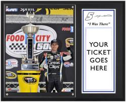 "Kasey Kahne 2013 Food City 500 Sublimated 12"" x 15"" I Was There Plaque"