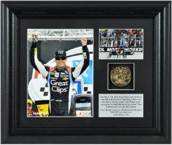 Kasey Kahne 2013 Food City 500 Race at Bristol Motor Speedway Winner Framed 2-Photo Collage with Plate & Gold Coin - Mounted Memories