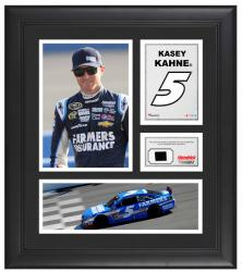 "Kasey Kahne Framed 15"" x 17"" Collage with Race-Used Tire"