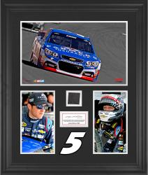 Kasey Kahne Framed 3-Photograph Collage with Race-Used Tire-Limited Edition of 500 - Mounted Memories