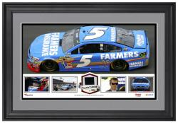 Kasey Kahne Framed Panoramic with Race-Used Tire-Limited Edition of 500 - - Mounted Memories