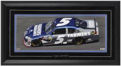Kasey Kahne Framed Mini Panoramic with Facsimile Signature