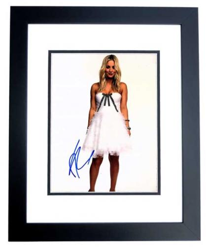 Kaley Cuoco Signed - Autographed Big Bang Theory Actress 11x14 inch Photo BLACK CUSTOM FRAME - Guaranteed to pass PSA or JSA