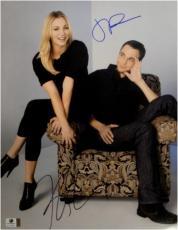 Kaley Cuoco Jim Parsons Dual Autographed 11X14 Photo Big Bang Theory GA776051