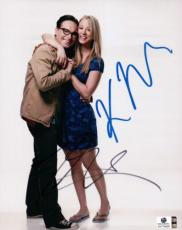 Kaley Cuoco Johnny Galecki Dual Autographed 8x10 Photo Big Bang Theory GA774826