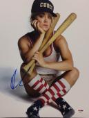 Kaley Cuoco Signed 11x14 Photo *Model *Baseball PSA AC95471