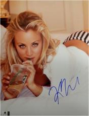 Kaley Cuoco Signed Autographed 11X14 Photo Sexy Big Bang Theory Coffee GA776061