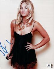 Kaley Cuoco Signed Autographed 8x10 Photo Big Bang Theory Sexy Dress GA774769