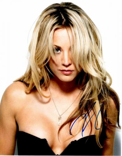 Kaley Cuoco Signed - Autographed Sexy Big Bang Theory Actress 11x14 inch Photo - Guaranteed to pass PSA or JSA