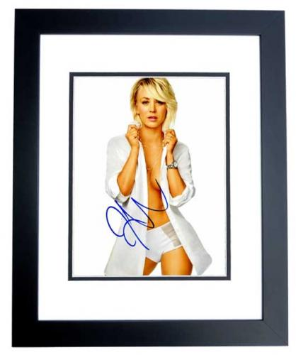 Kaley Cuoco Signed - Autographed Sexy Big Bang Theory Actress 8x10 inch Photo BLACK CUSTOM FRAME - Guaranteed to pass PSA or JSA