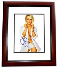Kaley Cuoco Signed - Autographed Sexy Big Bang Theory Actress 8x10 inch Photo MAHOGANY CUSTOM FRAME - Guaranteed to pass PSA or JSA
