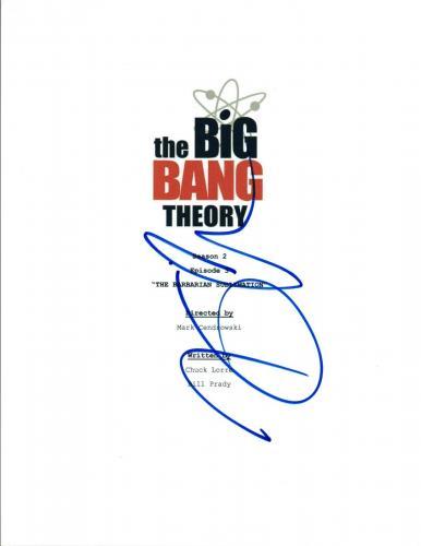 Kaley Cuoco Signed THE BIG BANG THEORY The Barbarian Sublimation Script VD