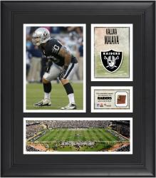 """Kaluka Maiava Oakland Raiders Framed 15"""" x 17"""" Collage with Game-Used Football"""