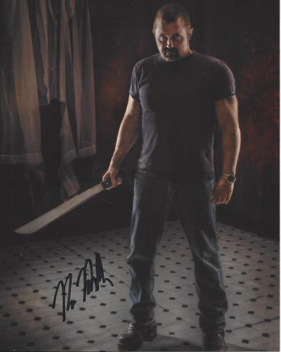 """KANE HODDER as JASON VOORHEES in the Film Series """"FRIDAY the 13th"""" Signed 8x10 Color Photo"""