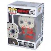 "Kane Hodder Friday the 13th Autographed 8-bit Jason Vorhees #23 Funko Pop! with ""Jason"" Inscription - PSA"