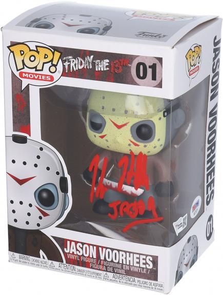 "Kane Hodder Friday the 13th Autographed Jason Vorhees #1 Funko Pop! with ""Jason"" Inscription - PSA"