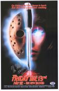 """Kane Hodder Friday the 13th: Part VII Autographed 12"""" x 18"""" Movie Poster with """"Jason"""" Inscription - PSA"""