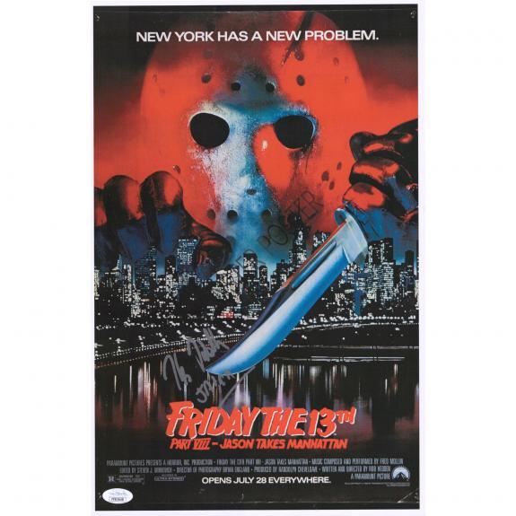 "Kane Hodder Friday The 13th Part VIII Autographed 12"" x 18"" Movie Poster with ""Jason"" Inscription - JSA"