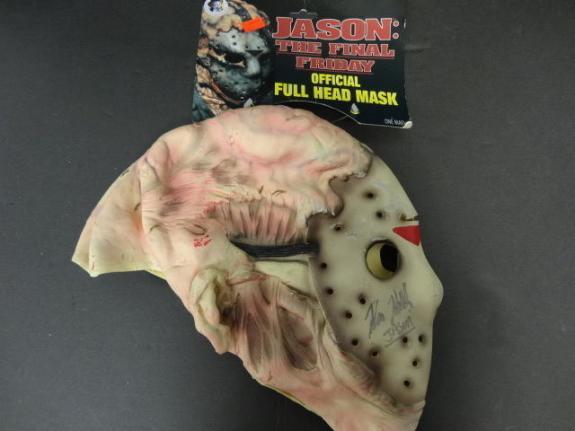 Kane Hodder Jason Signed Jason Friday The 13th Mask Auto PSA/DNA AB70066