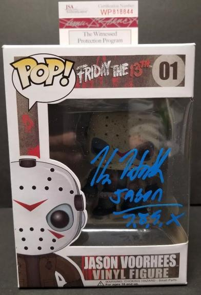 KANE HODDER Signed Autographed FUNKO POP JASON VOORHEES. WITNESS JSA