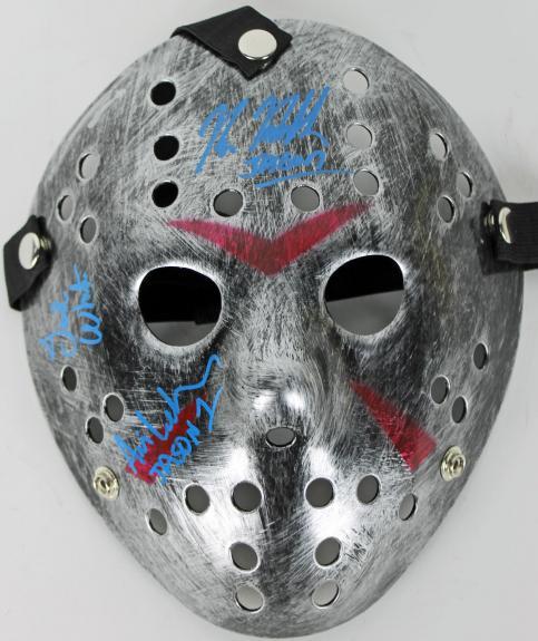Kane Hodder, Ted White & Ari Lehman Signed Friday The 13th Jason Mask JSA 2