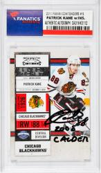 Patrick Kane Chicago Blackhawks Autographed 2011 Upper Deck Sp #38 Card with 2008 Calder Inscription
