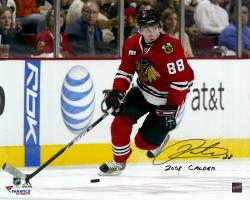 "Patrick Kane Chicago Blackhawks Autographed 16"" x 20"" Photograph with 2008 Calder Inscription"