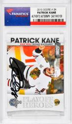 Patrick Kane Chicago Blackhawks Autographed 2010 Score #24 Card