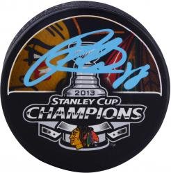 Patrick Kane Chicago Blackhawks 2013 Stanley Cup Autographed Hockey Puck - Mounted Memories