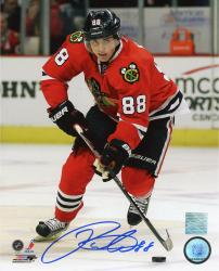 Patrick Kane Chicago Blackhawks Autographed 8'' x 10'' Red Uniform Skating Photograph - Mounted Memories