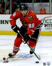 Patrick Kane Chicago Blackhawks Autographed 16'' x 20'' Vertical Skating Photograph - Mounted Memories
