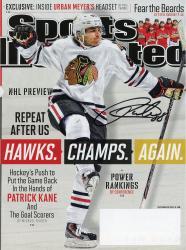 Patrick Kane Autographed Sports Illustrated Magazine 9/30/13