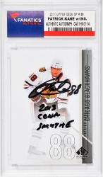 "KANE, PATRICK AUTO""2013 CONN SMYTHE""(2011 UPPER DECK SP #38) - Mounted Memories"