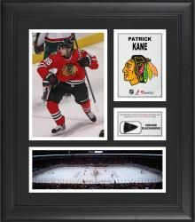 Patrick Kane Chicago Blackhawks Framed 15'' x 17'' Collage with Game-Used Puck-Limited Edition of 500 - Mounted Memories