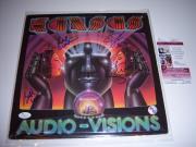 Steve Walsh Kansas Audio-visions 4 Sigs Jsa/coa Signed Lp Record Album