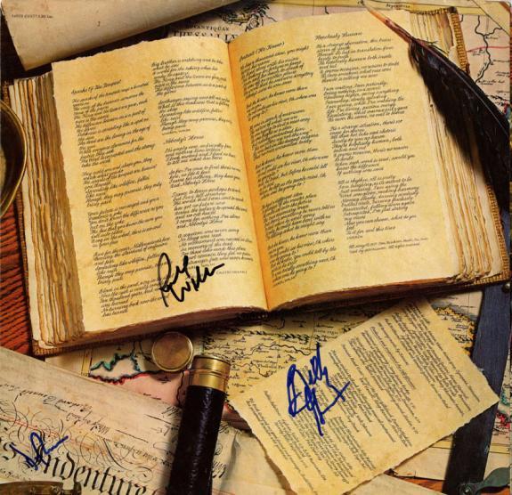 Kansas Autographed X3 Signed Album Sleeve UACC RD COA AFTAL
