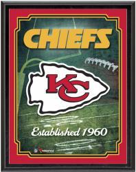 """Kansas City Chiefs Team Logo Sublimated 10.5"""" x 13"""" Plaque"""