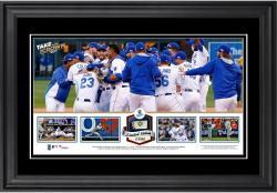 """Kansas City Royals 2014 American League Champions Framed 10"""" x 18"""" Panoramic with Game-Used Baseball - Limited Edition of 500"""